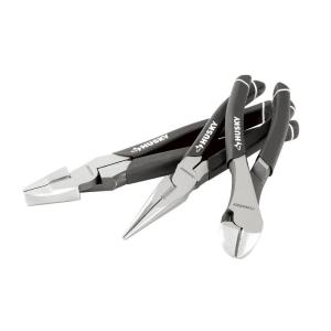 Click here to buy Husky High-Leverage Long Nose Pliers Set (3-Piece) by Husky.
