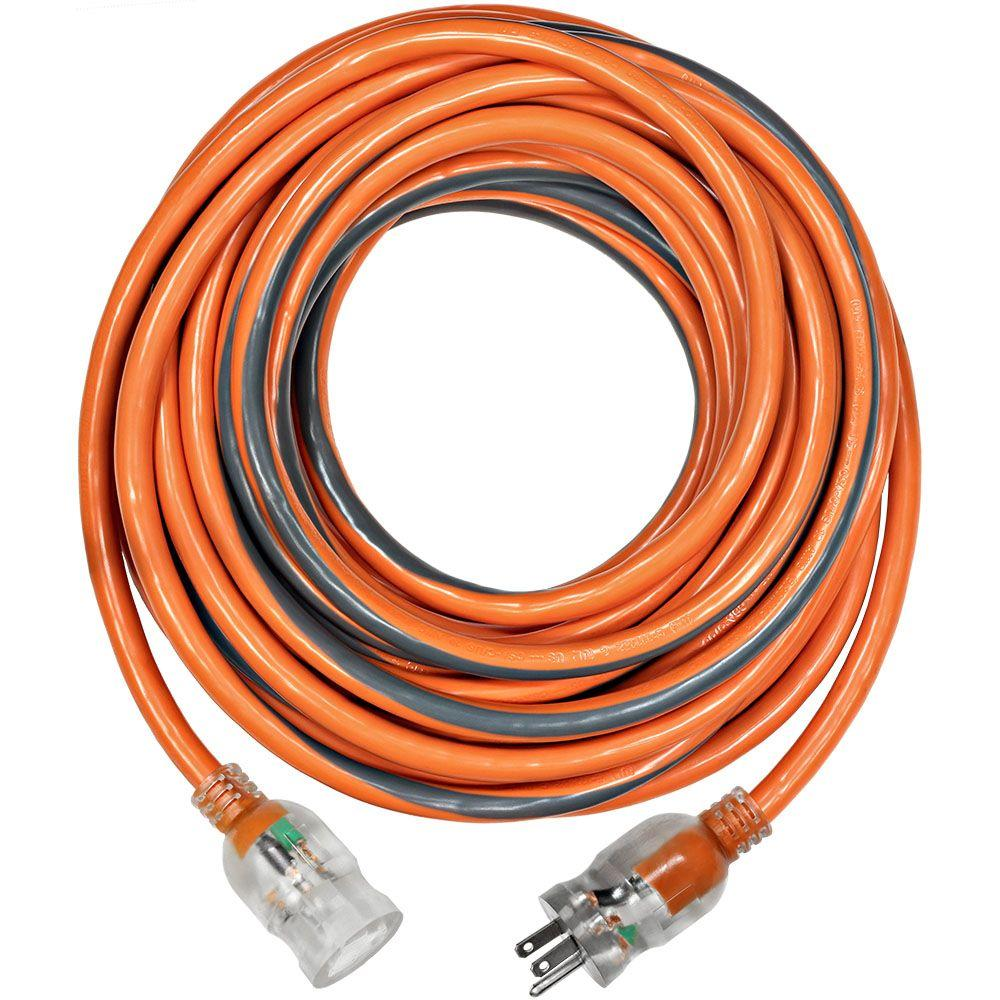 100 ft. 10/3 SJTW Extension Cord with Lighted Plug-757-103100RL6A ...