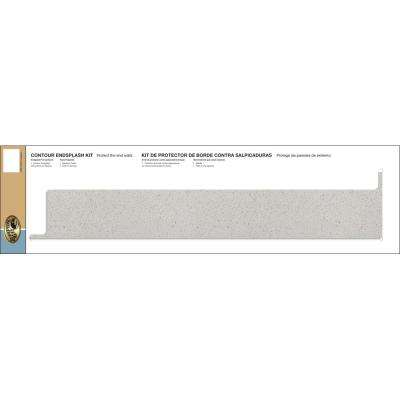 Tempo Laminate Reversible Contour End Splash Kit in Sea Salt