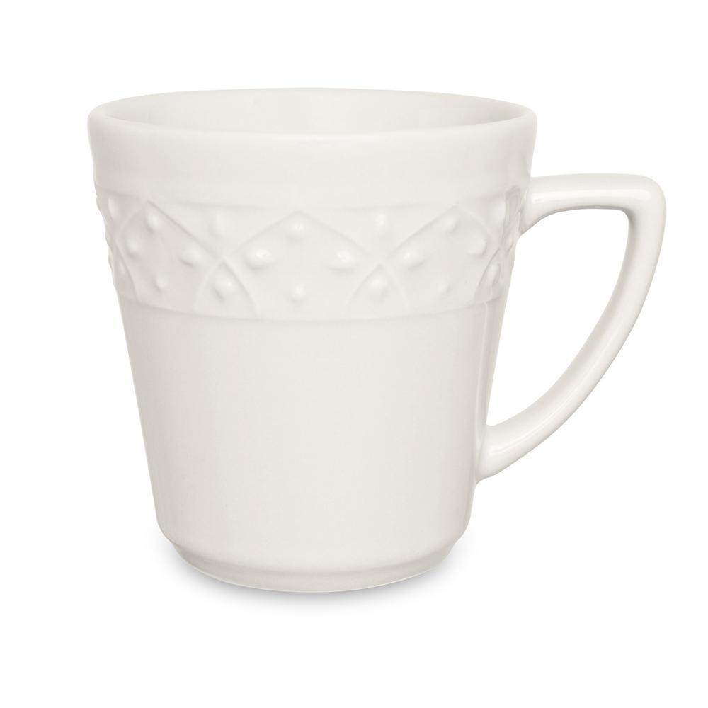 Manhattan Comfort Mendi 12.17 oz. Ivory Earthenware Mugs (Set of 12) was $129.99 now $68.66 (47.0% off)