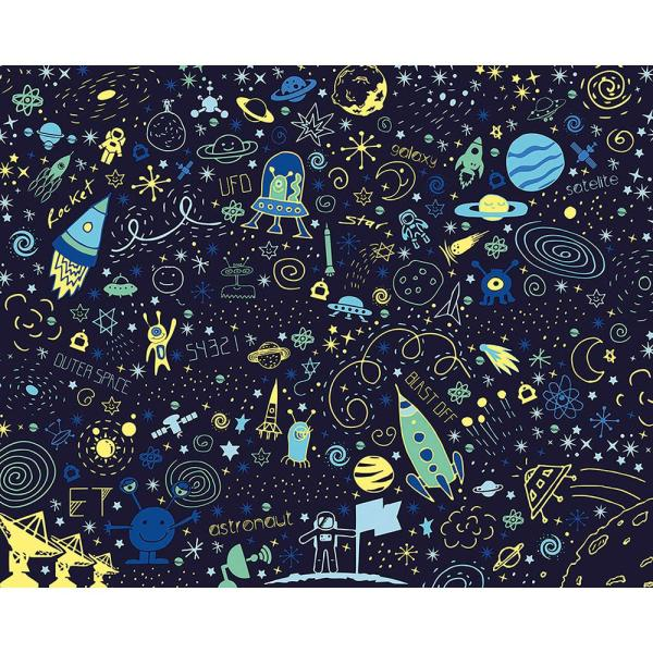 Space Doodle Wall Mural