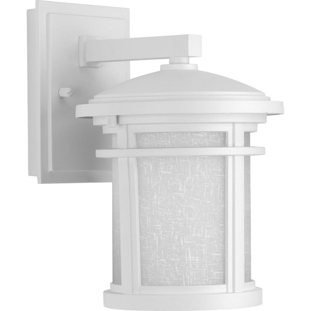 Progress Lighting Wish Collection 1 Light Outdoor 7 Inch Textured White Led Wall Lantern P6087