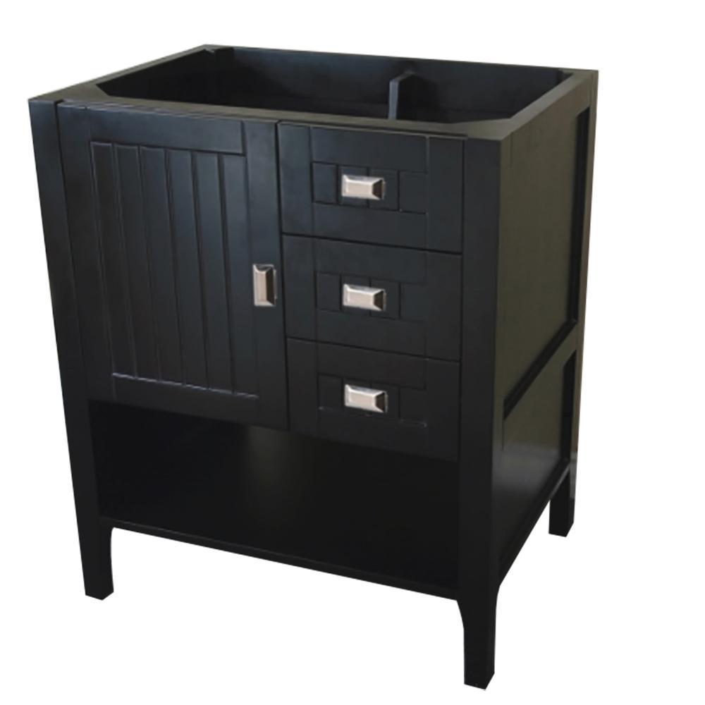 30 in. W x 21.6 in. D x 33.5 in. H Bath Vanity Cabinet Only in Dark Gray