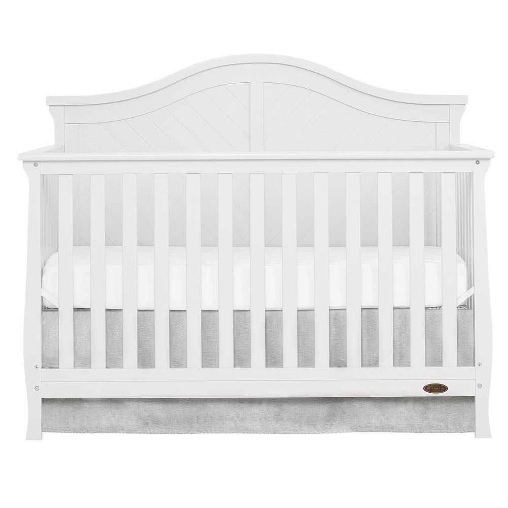 Kaylin White 5 in 1 Convertible Crib
