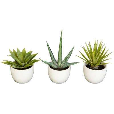 8.5 in. H Green Southwest Collection (Set of 3)