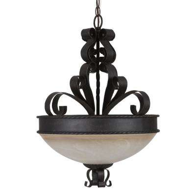 Mckensi Collection 3-Light Bronze Hanging Pendant