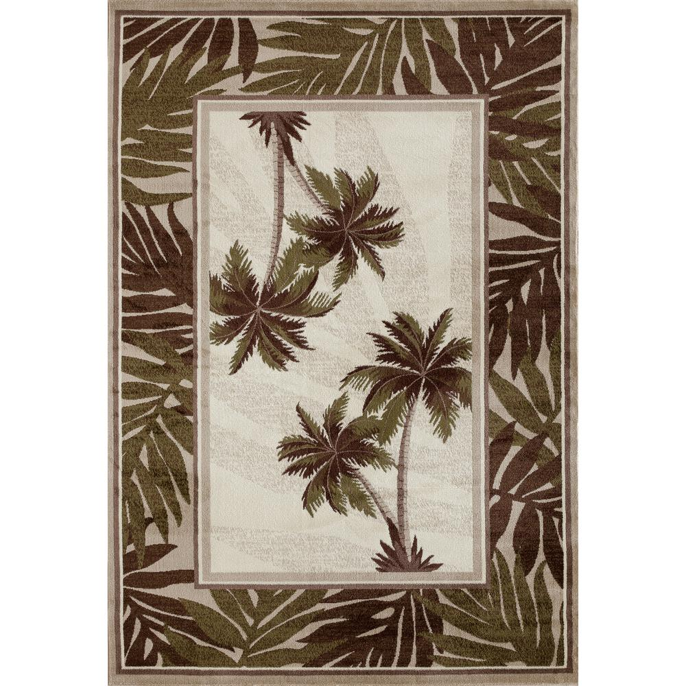 Art Carpet Palm Coast Frond Green 7 Ft X 9 Ft Area Rug