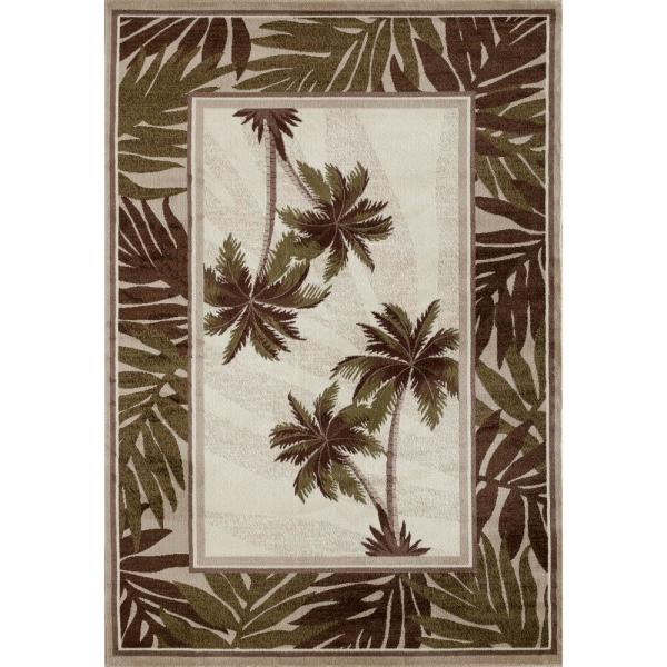 Art Carpet Palm Coast Frond Green 8 Ft
