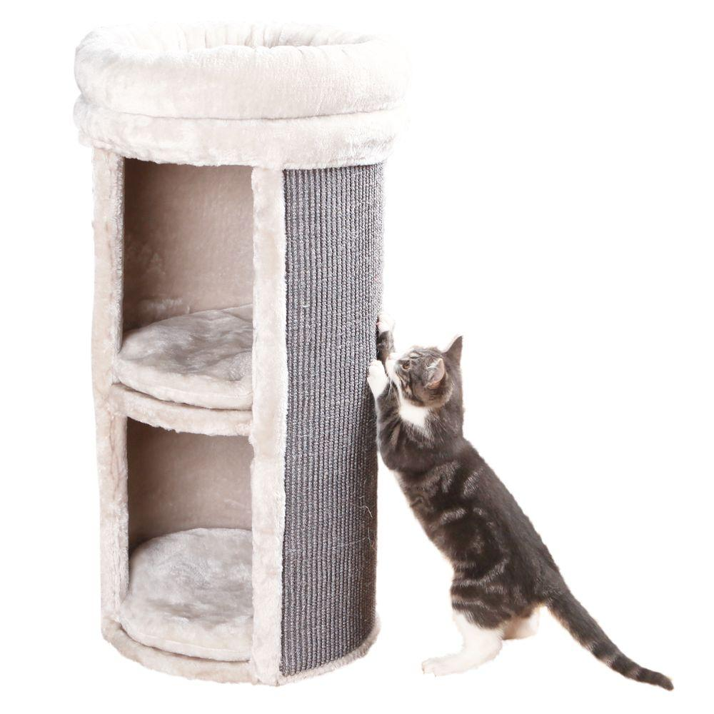 Trixie Gray Mexia 2 Story Cat Tower