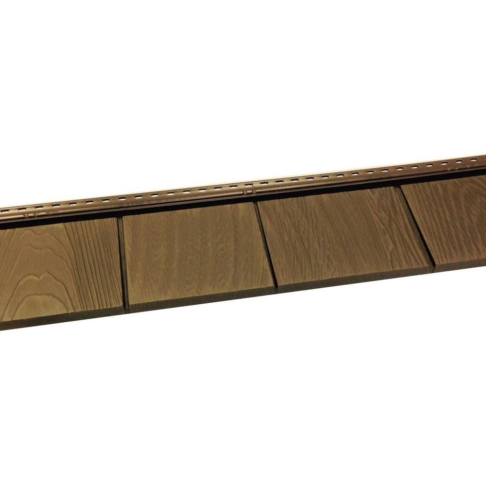 6-1/2 in. x 60-1/2 in. Aspen Brown Engineered Rigid PVC Shingle Panel 5 in. Exposure (24 per Box)