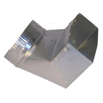 10 in. x 3.25 in. x 6 in. Galvanized Sheet Metal Range Hood 90 Degree Boot Adapter