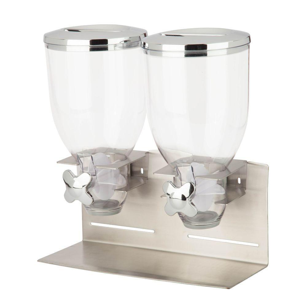 Designer Edition Stainless Steel Double Food Dispenser