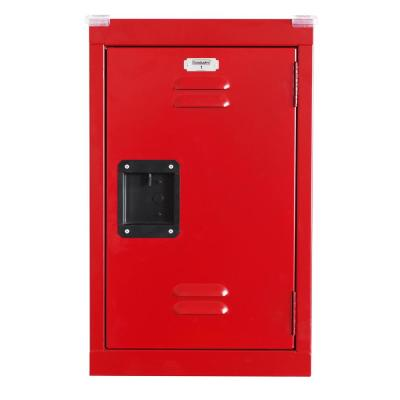 24 in. 1-Tier Steel Locker in Fire Engine Red