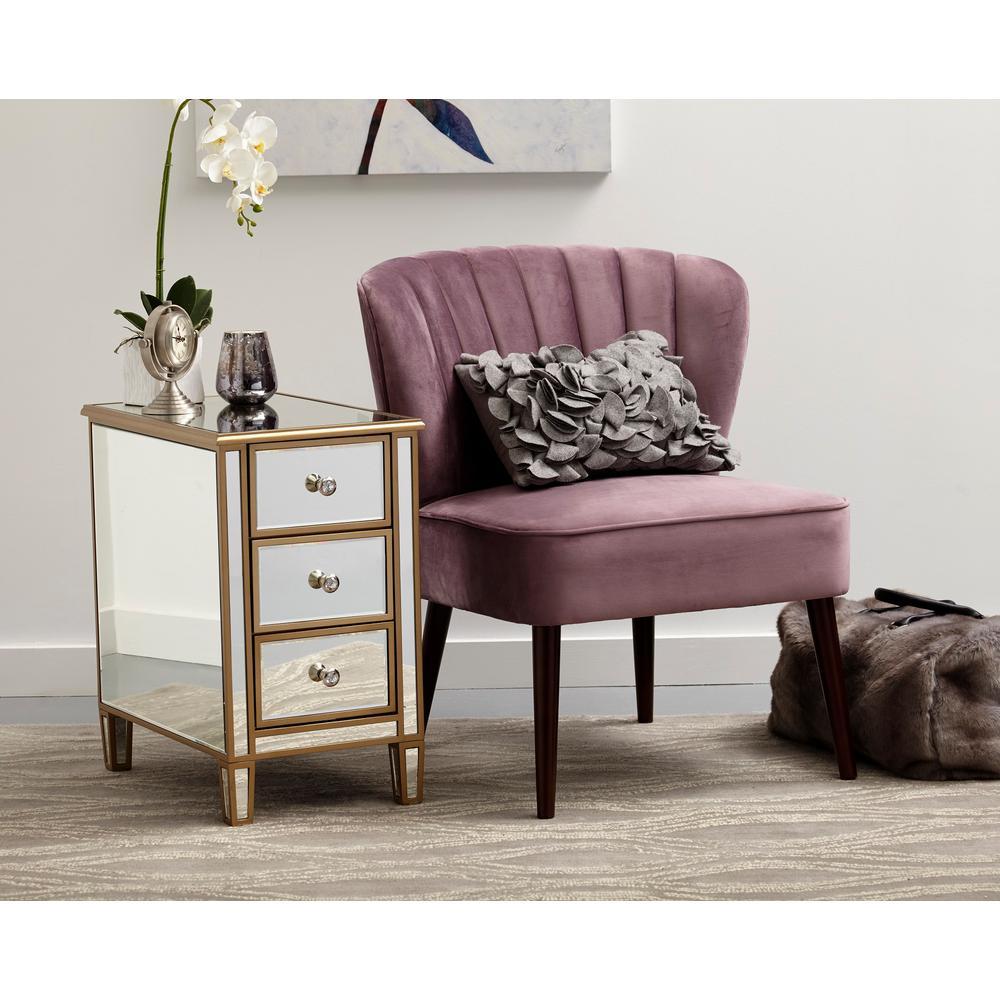 Pulaski Furniture Channeled Back Armless Luxor Lilac