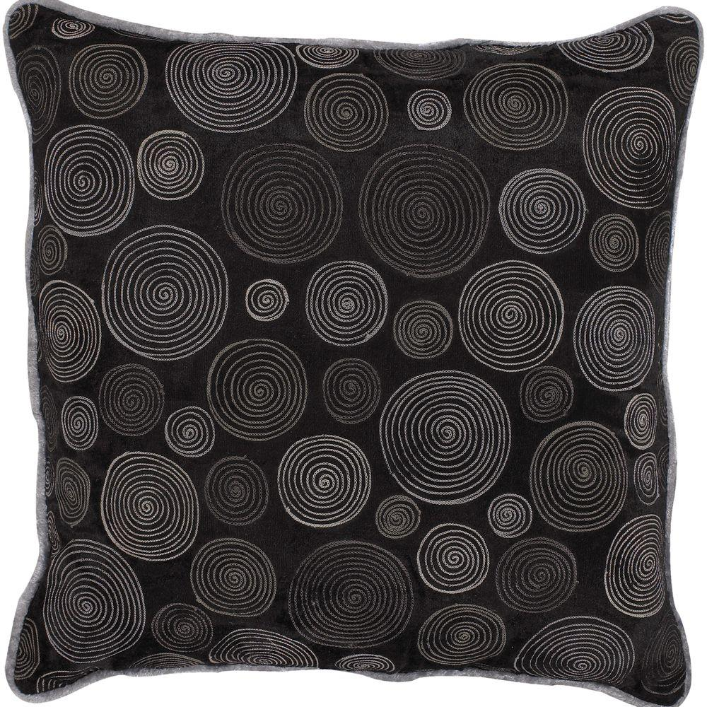Artistic Weavers CirclesB1 18 in. x 18 in. Decorative Down Pillow-DISCONTINUED