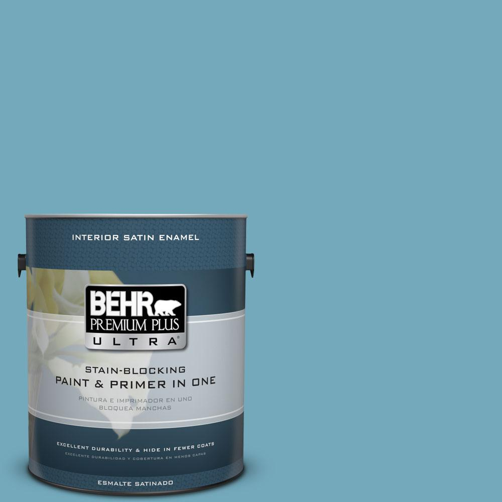 BEHR Premium Plus Ultra 1-gal. #S460-4 Snowboard Satin Enamel Interior Paint