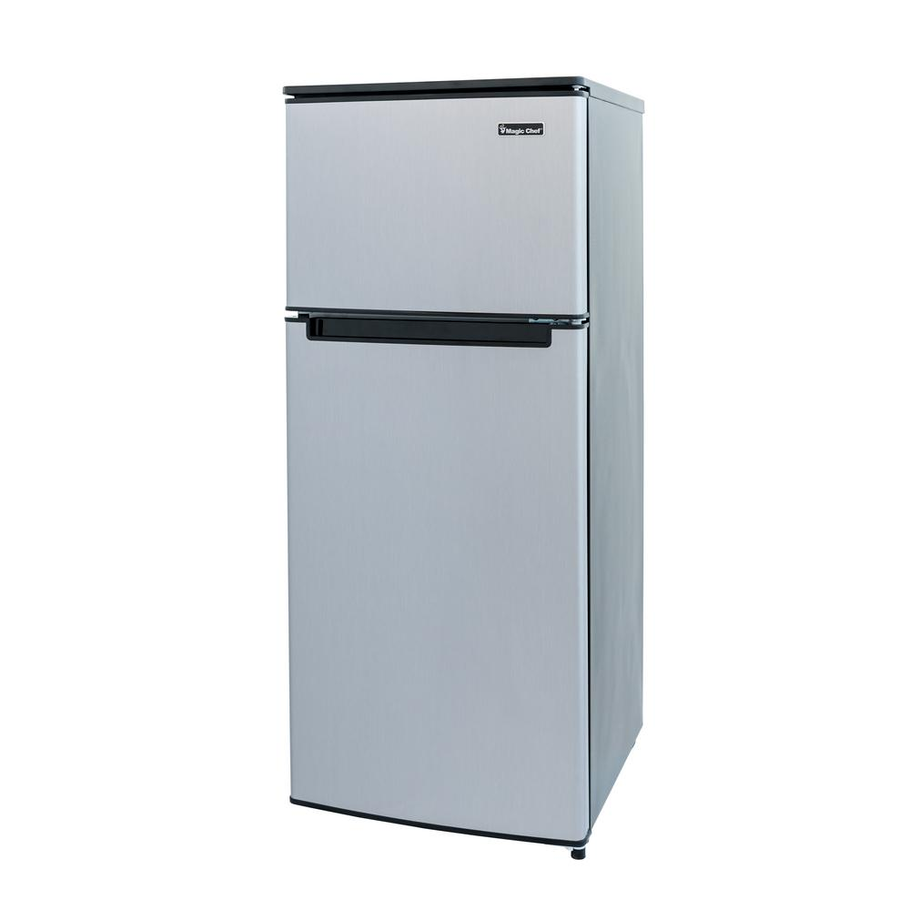 Magic Chef 4 5 Cu Ft Double Door Mini Fridge In Stainless Look