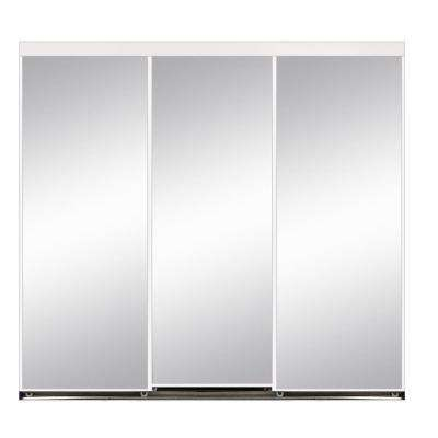 White 120 X 96 3 Panel Sliding Doors Interior Closet Doors The Home Depot