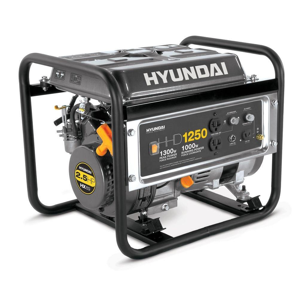 Hyundai 1,250-Watt Gasoline Powered Portable Heavy Duty Generator-DISCONTINUED