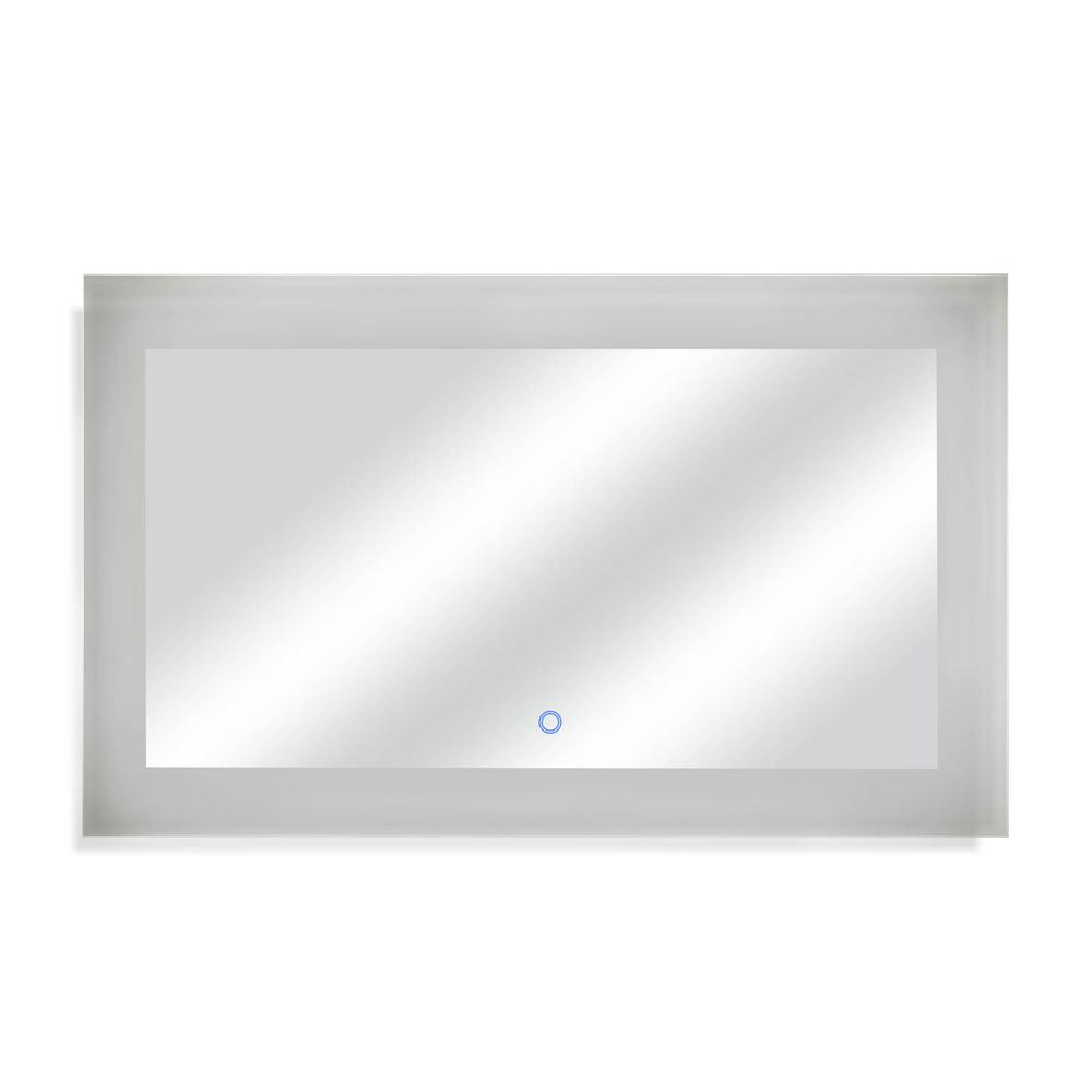 Dyconn 60 in. W x 35 in. H LED Wall Mounted Backlit Vanity Bathroom LED Mirror with Touch On/Off Dimmer