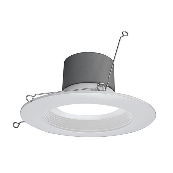 Nicor 5 In And 6 In Downlight White Baffle 800 Lumen Integrated Led Recessed Trim Retrofit Light Dcr561081203kwhbf The Home Depot