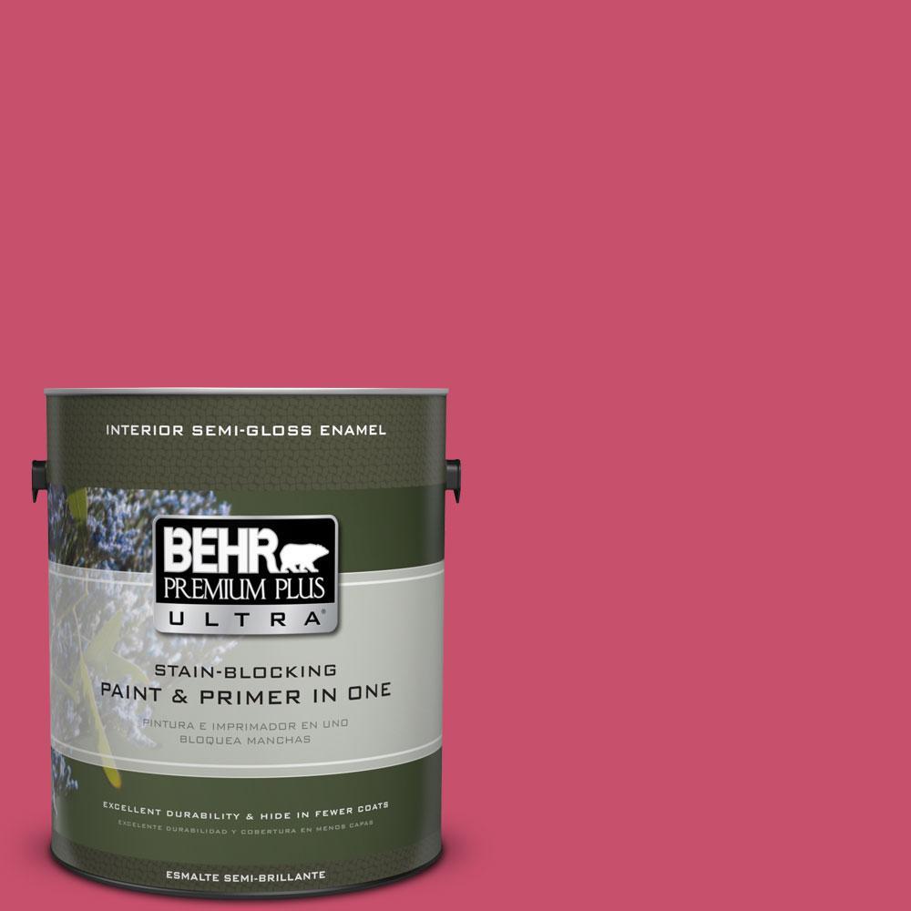 1-gal. #120B-7 Tropical Smoothie Semi-Gloss Enamel Interior Paint