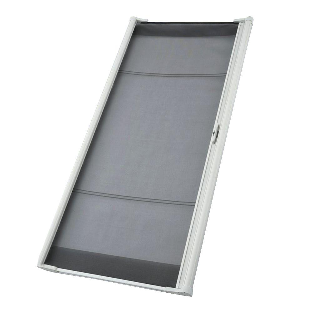 ODL 36 In. X 78 In. Brisa White Sliding Retractable Screen Door