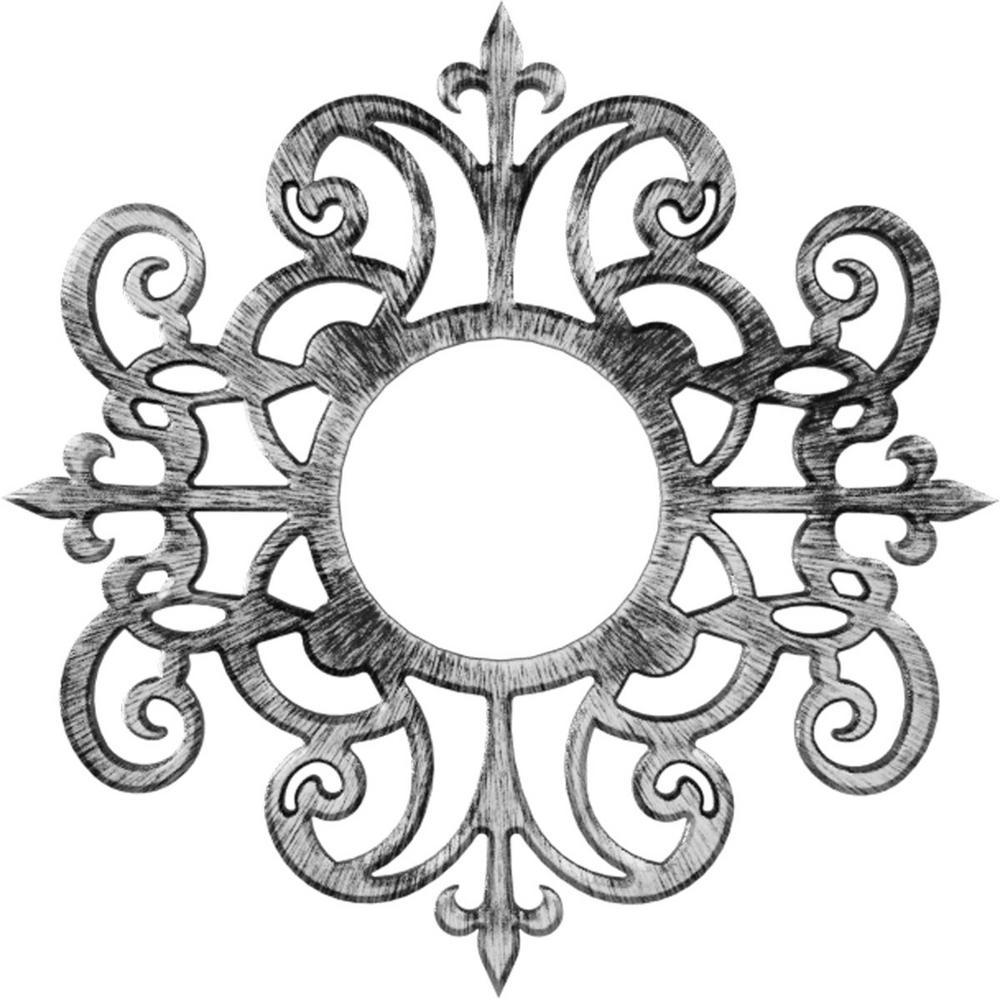 Ekena Millwork 1 In X 32 In X 32 In Dijon Architectural Grade Pvc Pierced Ceiling Medallion Cmpp32diapw The Home Depot