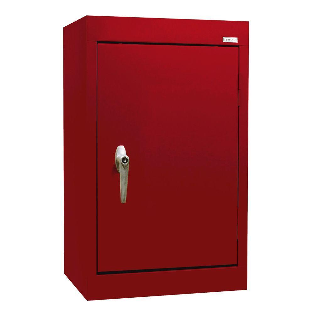 Sandusky 26 in. H x 18 in. W x 12 in. D Wall Cabinet in Red