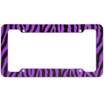 Zebra Purple and Black License Plate Frame