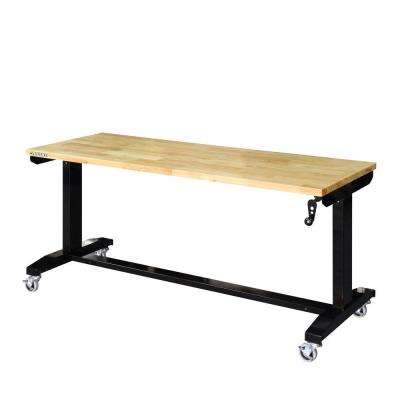 62 in. Adjustable Height Work Table
