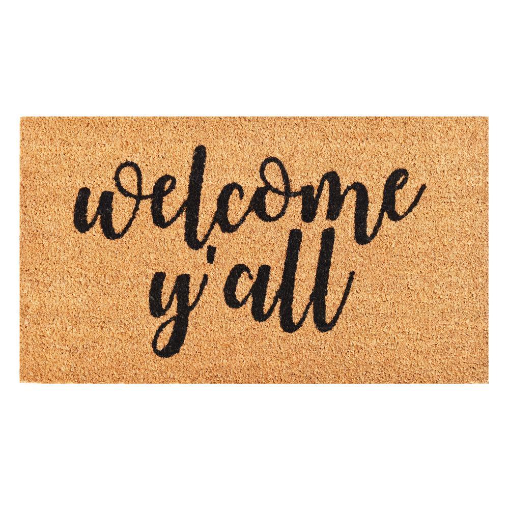 Welcome Y in.all Doormat 17 in. x 29 in.