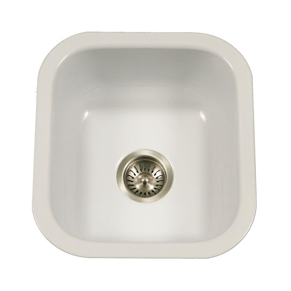 This Review Is From:Porcela Series Undermount Porcelain Enamel Steel 16 In.  Single Bowl Kitchen Sink In White
