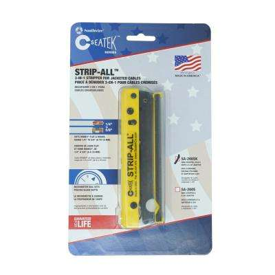 Strip-All Cable Stripper Plus Utility Knife