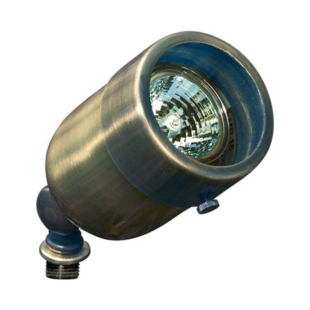 Skive 1-Light Antique Brass Outdoor Directional Spot Light