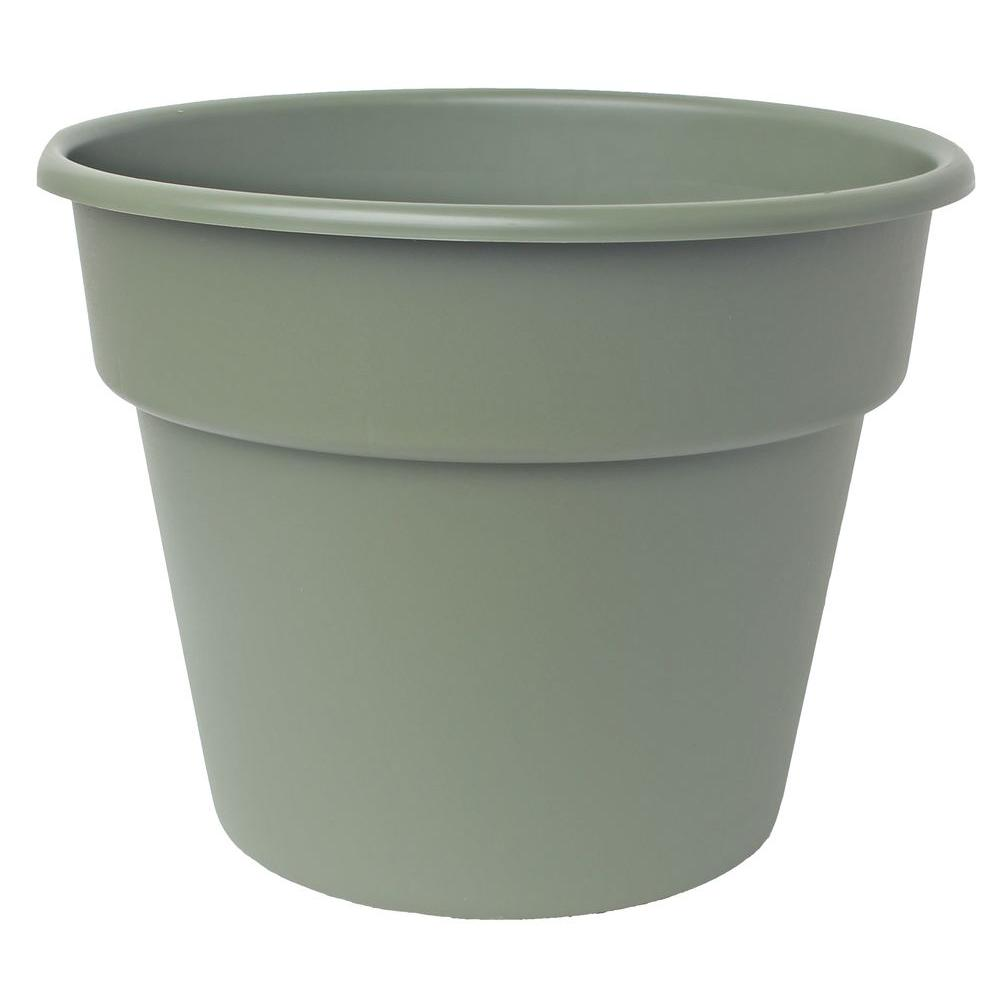 Bloem 8 in. Living Green Dura Cotta Plastic Planter