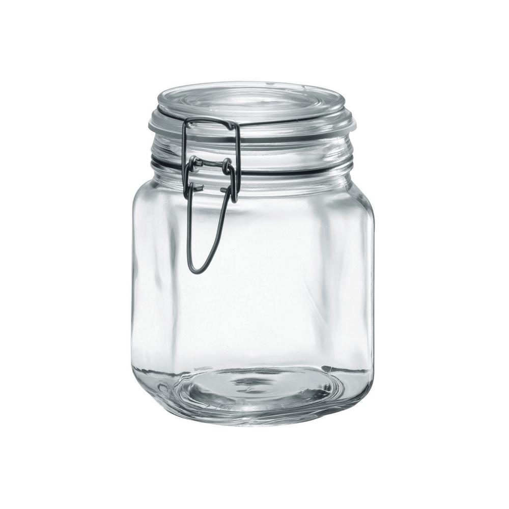Borgonovo 34 oz. 2-Piece Glass Hermetic Canning Jar Set with Metal Lids