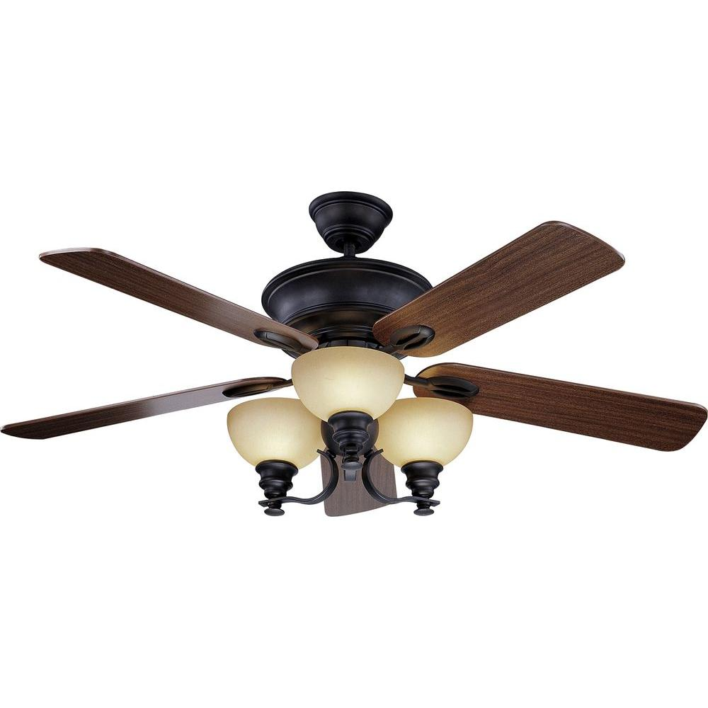 Volume Lighting Rainier 52 In. Foundry Bronze Ceiling Fan