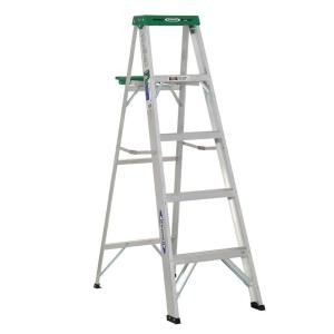 Werner 5 Ft Aluminum Step Ladder With 225 Lb Load