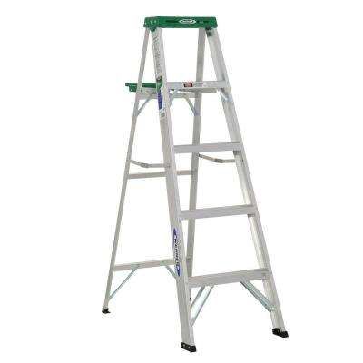 5 ft. Aluminum Step Ladder with 225 lb. Load Capacity Type II Duty Rating