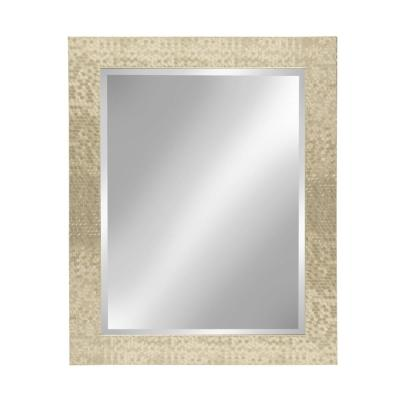 Medium Rectangle Gold Beveled Glass Contemporary Mirror (29 in. H x 23 in. W)