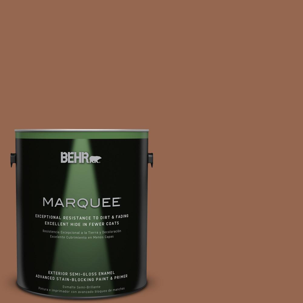 BEHR MARQUEE 1-gal. #240F-6 Sable Brown Semi-Gloss Enamel Exterior Paint