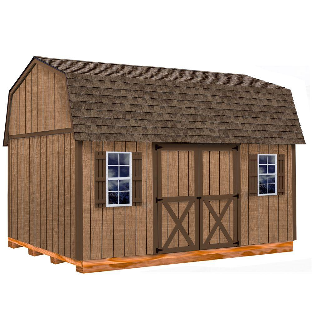 Best Barns Homestead 12 ft. x 16 ft. Wood Storage Shed Kit with Floor Including 4 x 4 Runners