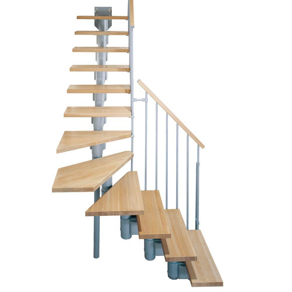 """Arke Kompact 35 in. Grey Modular Staircase """"L"""" Kit-K35025 ..."""