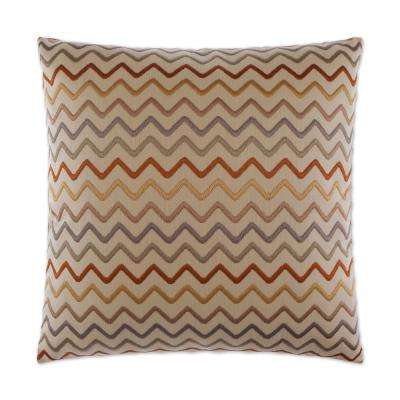 Zig Zag Feather Down 24 in. x 24 in. Standard Decorative Throw Pillow