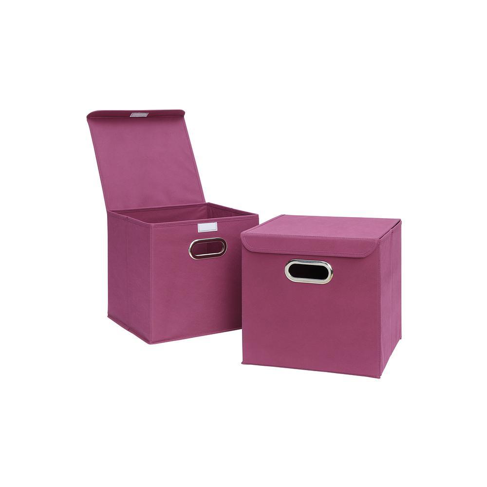 12 in. x 12 in. Pink Storage Bin (2-Pack)