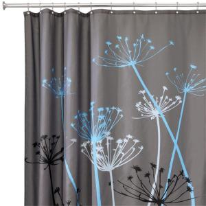 Brown And Gray Shower Curtain. interDesign Thistle 72 in  x Shower Curtain Gray Blue 37221 The Home Depot