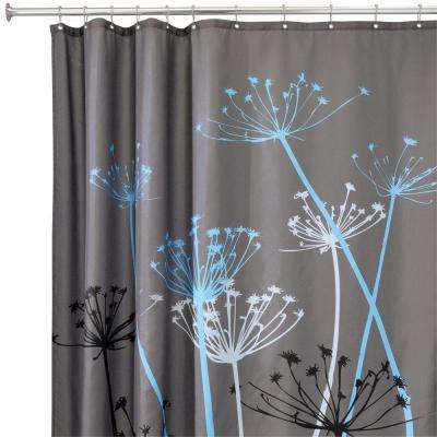 Thistle 72 In X Shower Curtain Gray Blue