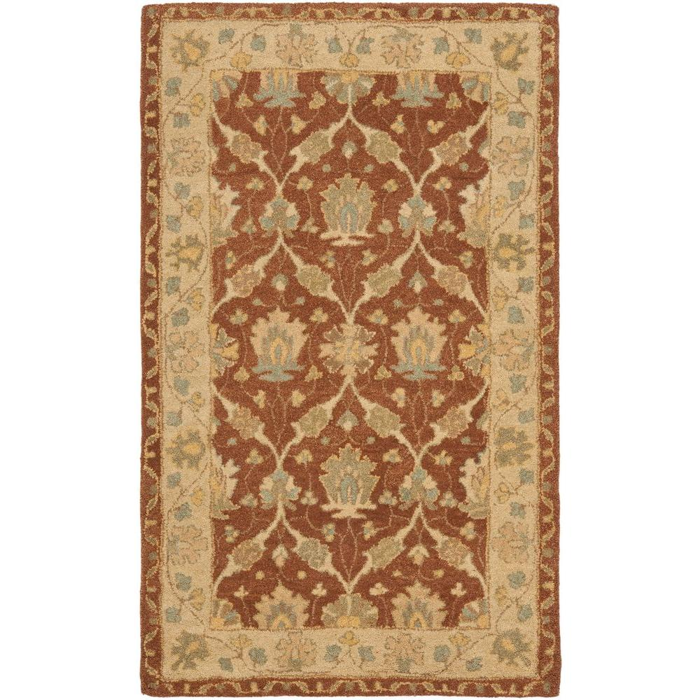 Safavieh Antiquity Brown Taupe 4 Ft X 6 Ft Area Rug