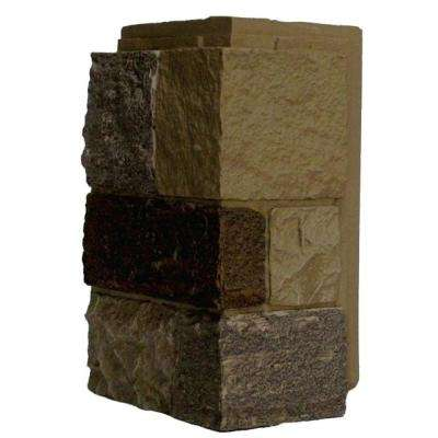 Castle Rock Windsor Buff 11 in. x 7 in. Faux Stone Siding Corner (4-Pack)